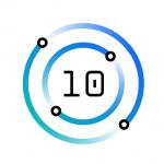 Power10 logo White