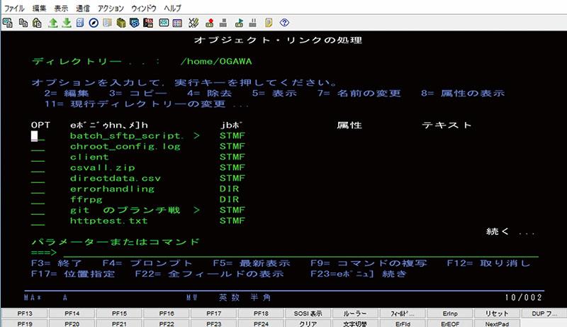 図表1-3 文字ベースのインターフェース ~5250画面